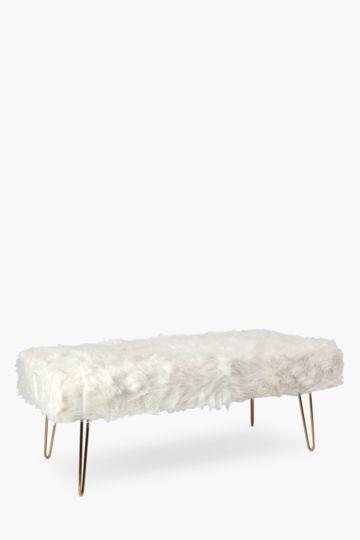 Atomic Faux Fur Bench