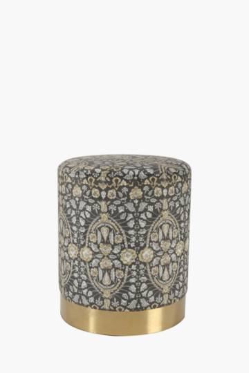 Viscaya Metal Base Ottoman