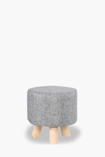 Linen Textured Foot Stool