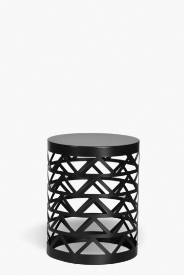 Diamond Cut Out Side Table