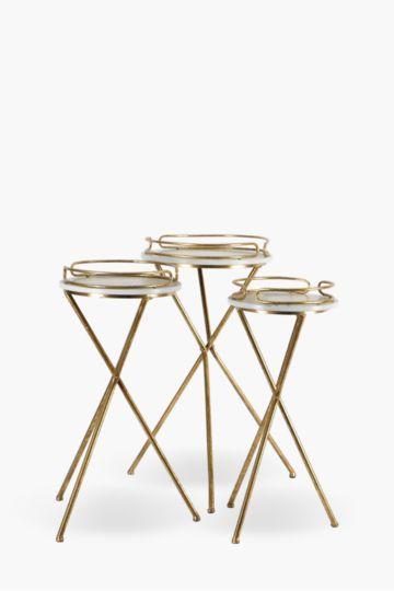 Metal Tripod Side Tables