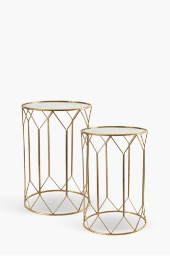 Diamond Geometric Nested Side Tables