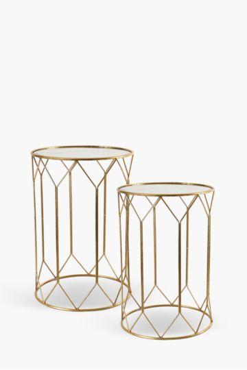 Diamond Geometric Nested Side Tables