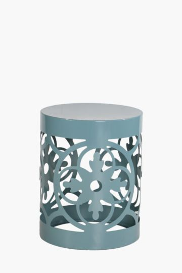 Metal Cut Out Side Table