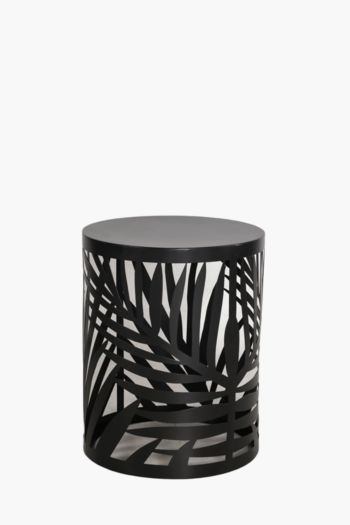 Palm Cut Out Side Table