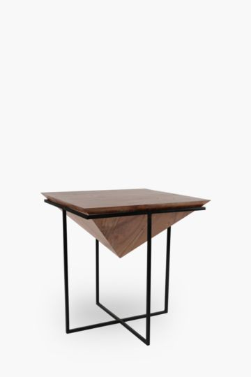 Acacia Planter Side Table, Short