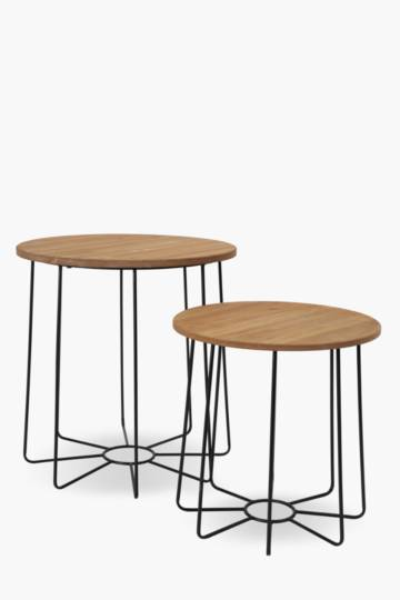 Urban Wood Nested Side Tables