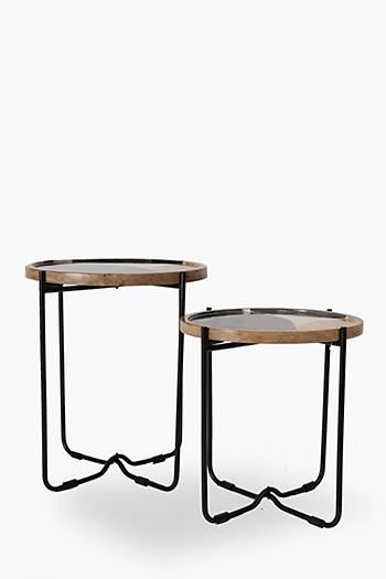 Brooks Geometric Nested Side Tables