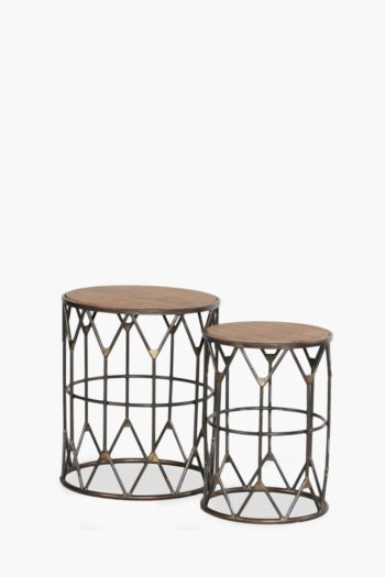 Industrial Nested Side Tables