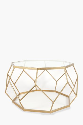 Metallic Geometric Wire Coffee Table