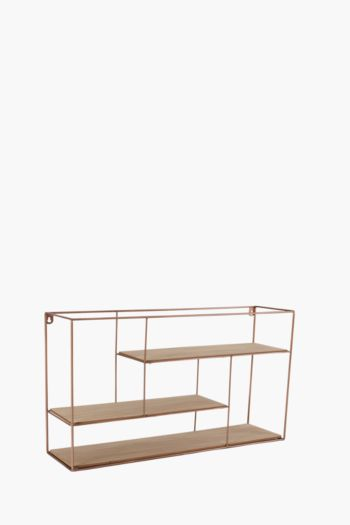 Wood And Metal Shelf