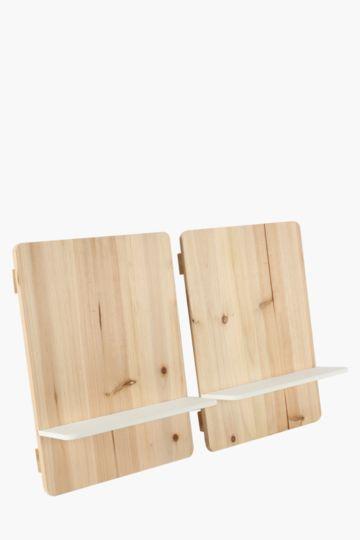 2 Pack Rectangular Shelves