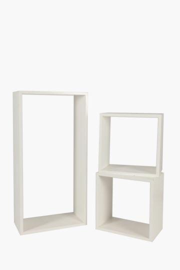 Set Of 3 Cube Shelves