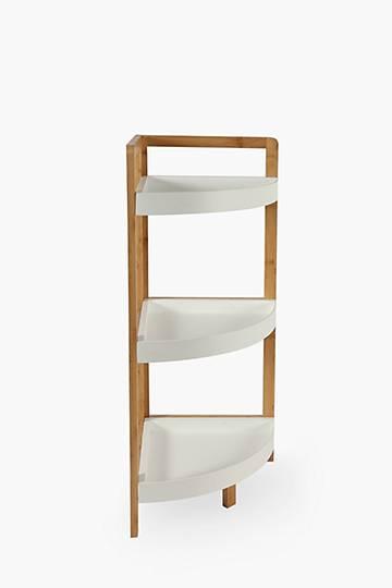Bamboo Corner Bathroom Cabinet