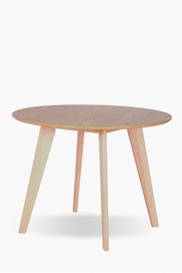 Round Miami Oak Dining Table