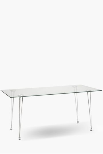 Milan Glass 6 Seater Dining Table