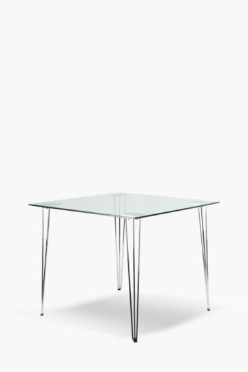 Milan Glass 4 Seater Dining Table