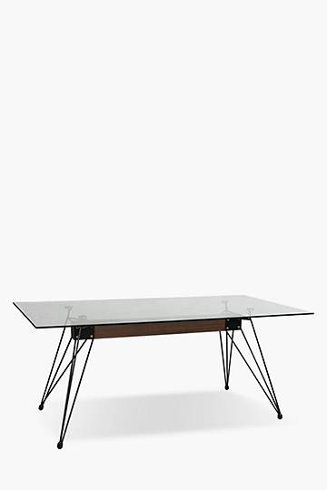 Stopblock Glass 6 Seater Dining Table
