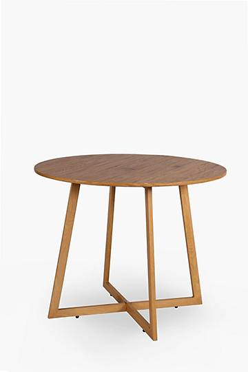 Oak Cross Leg Dining Table
