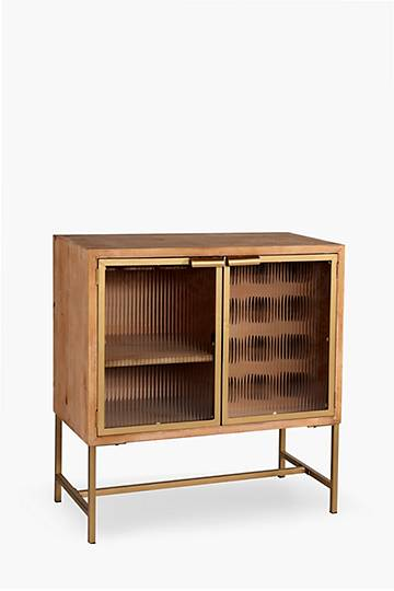 Fluted Glass Drinks Cabinet