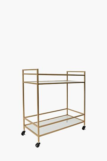 Fluted Glass Drinks Trolley