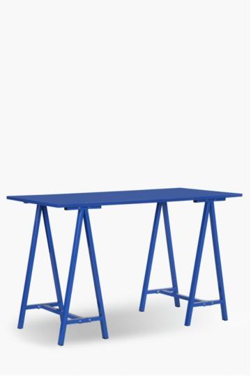 Hi Gloss Trestle Desk