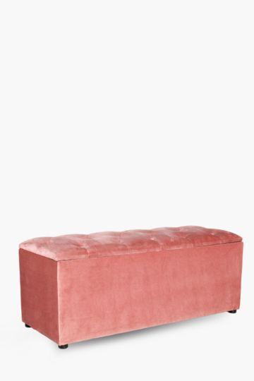 Regency Velvet Blanket Box