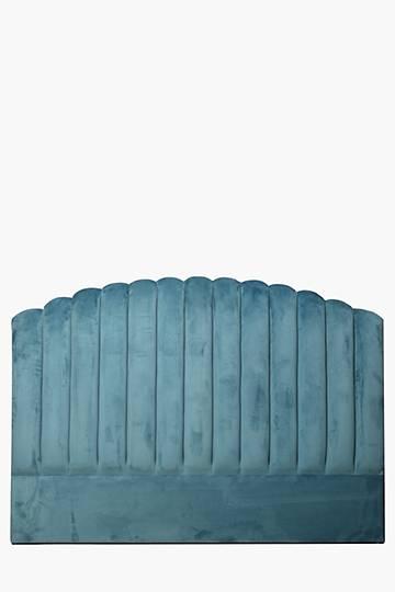 Scallop Velvet Queen Headboard