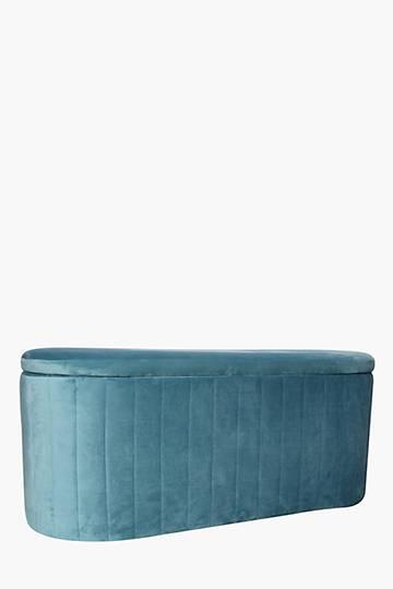 Scallop Velvet Blanket Box