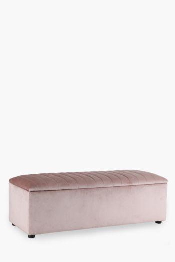 Ribbed Velvet Blanket Box