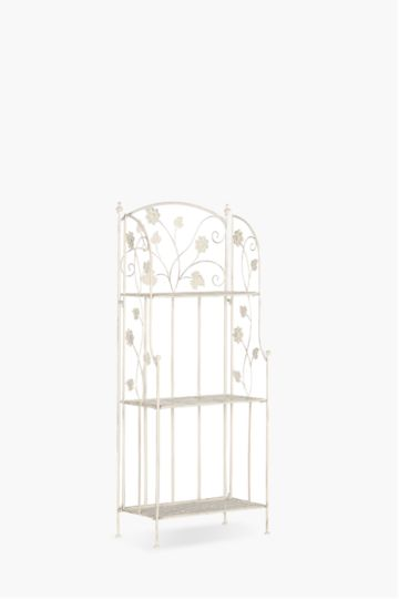 Floral Scroll Bakers Rack Medium