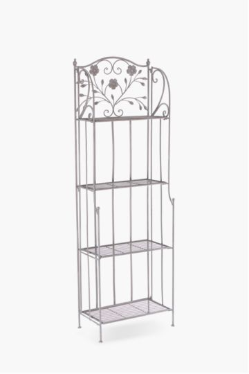 Metal Floral 4 Tier Bakers Rack