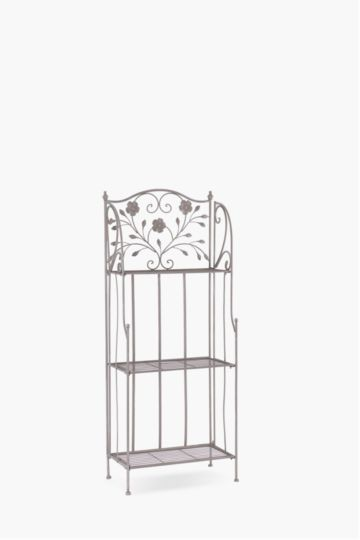 Metal Floral Bakers Rack Medium