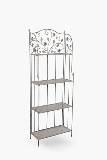 Metal Rose 3 Tier Shelf
