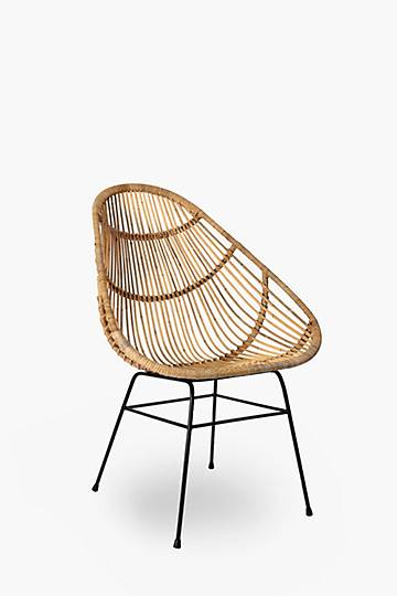 Rounded Rattan Chair