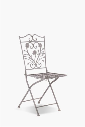 Metal Floral Chair