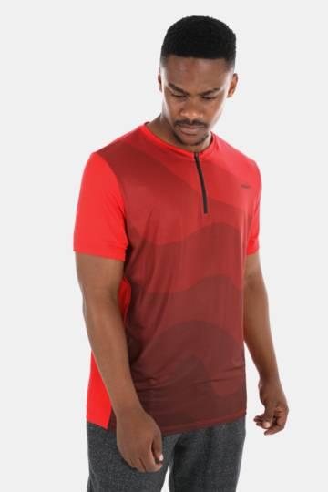 Zip Detail Dri-sport T-shirt