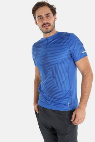 Zip-detail Dri-sport T-shirt