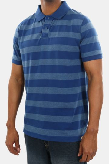 Polycotton Striped Golfer