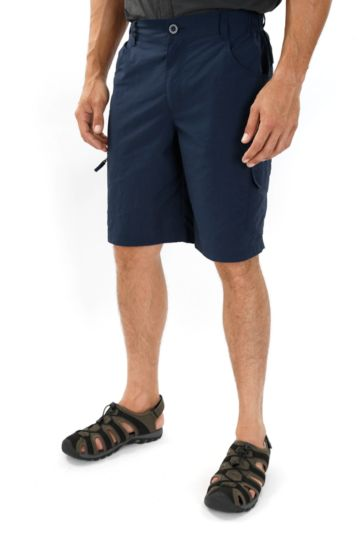 Knee-length Nylon Technical Cargo Shorts