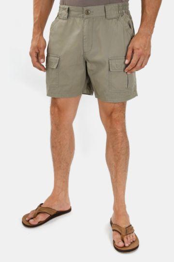 Cotton Mid-thigh Safari Shorts