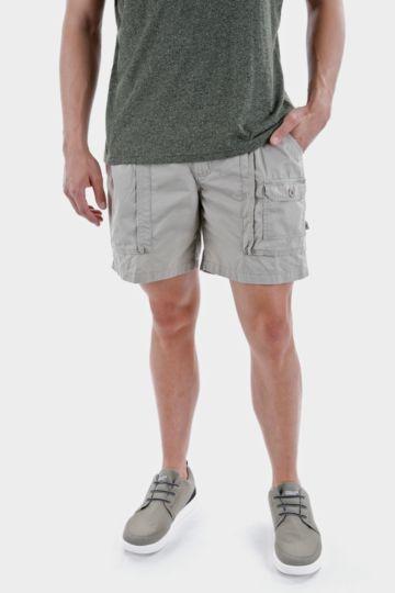 Mid-thigh Cotton Safari Shorts
