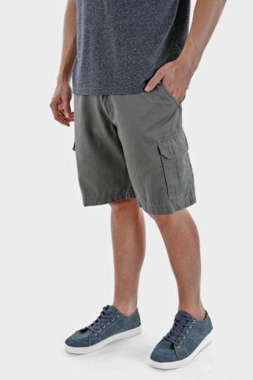 Elasticated Knee-length Cargo Shorts