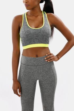 Colourblock Racerback Crop Top