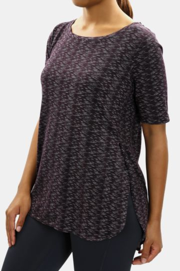 Patterned Crew Neck Top