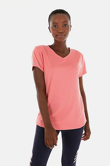 Reflective V-neck T-shirt