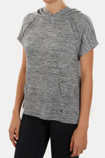 Short Sleeve Hooded Pullover