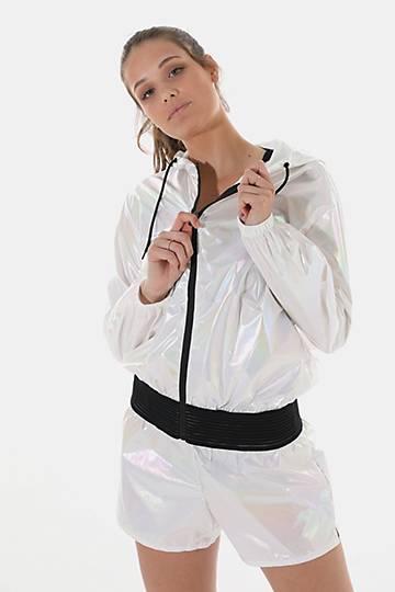 Iridescent Zip-through Hoodie