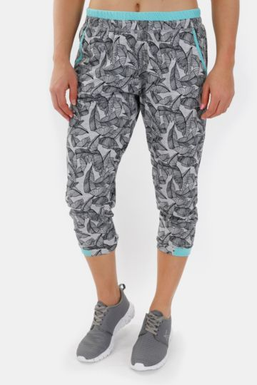 Print Cropped Joggers