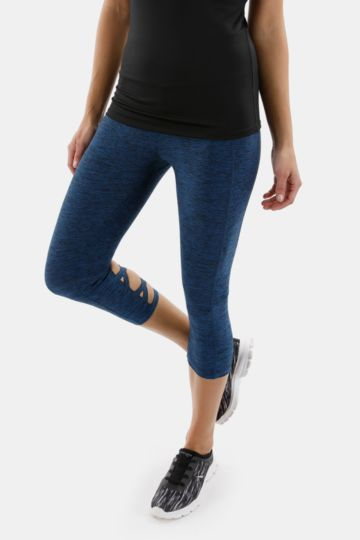 Criss-cross Detail Cropped Leggings